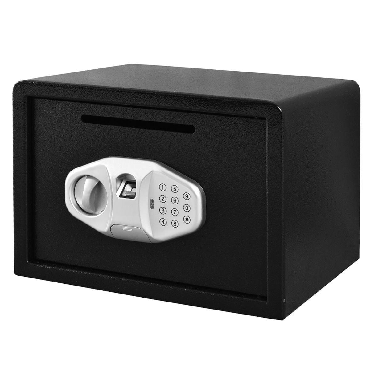 Safstar Cabinet Safes Biometric Fingerprint Electronic Digital Keypad Lock Security Box for Cash Jewelry Passport Guns Collectibles (FS Fingerprint: 9.8'' x 13.7'' x 9.8'') by S AFSTAR (Image #2)
