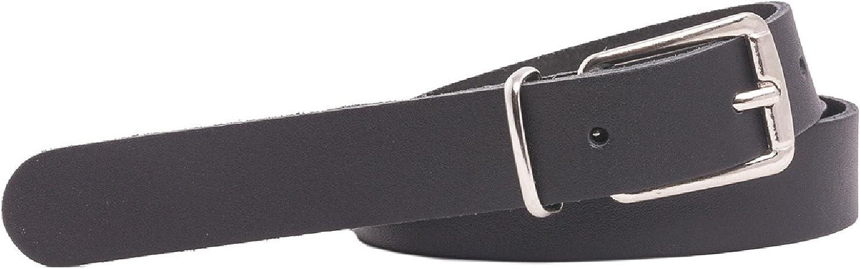 Cinturón de cuero - Fino - 2 cm de ancho - De 85 a 130 cm de largo