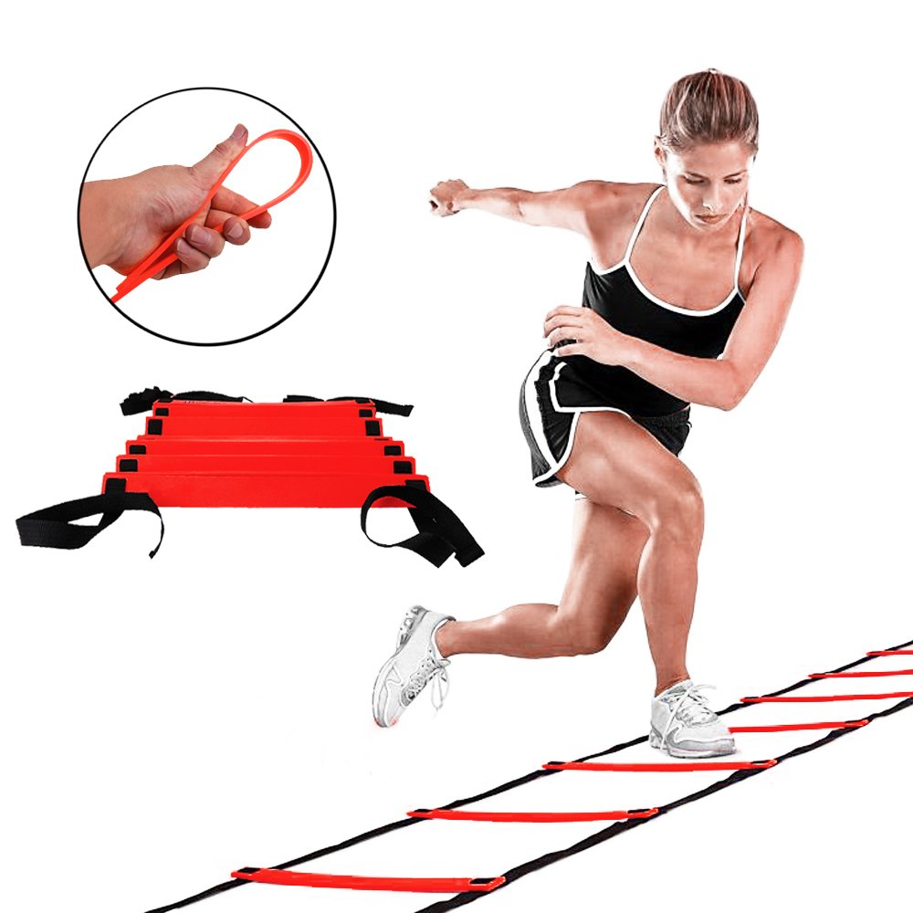 GSports Pro Agility Ladder Agility Training Ladder Speed Flat Rung with Carrying Bag