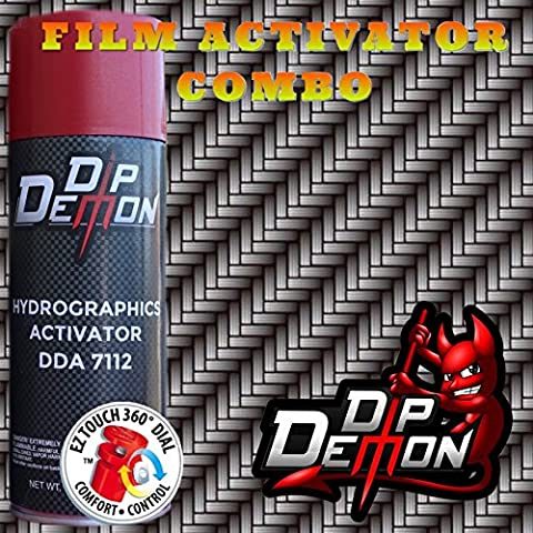 COMBO KIT LARGE ANGLED CARBON FIBER HYDROGRAPHIC WATER TRANSFER FILM ACTIVATOR COMBO KIT HYDRO DIPPING DIP - Demon Carbon Fiber