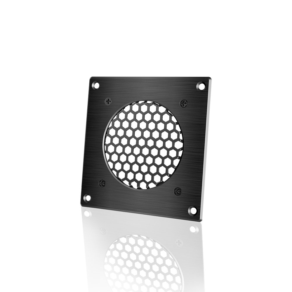 AC Infinity Ventilation Grille 1, for PC Computer AV Electronic Cabinets, Also Includes Hardware to Mount one 80mm Fan