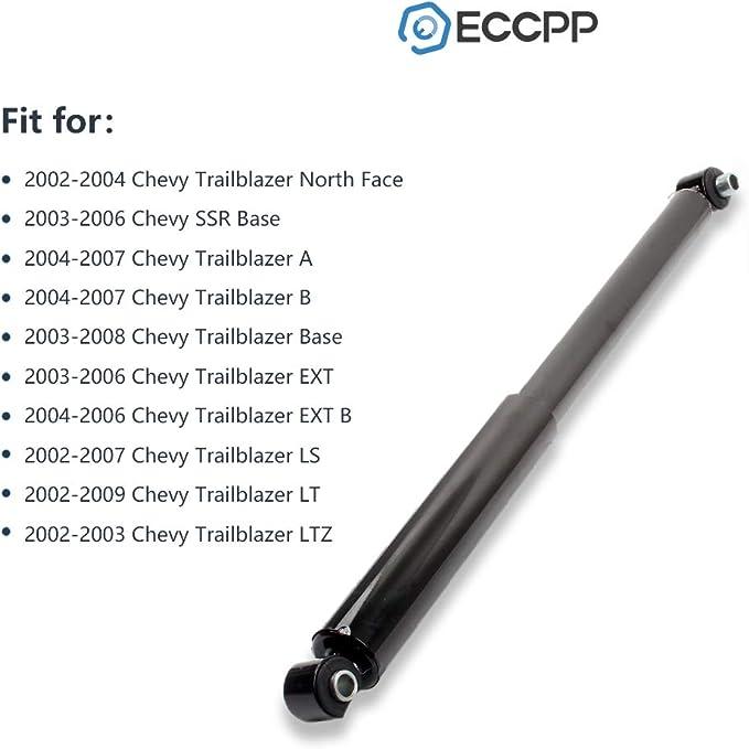 Shocks Struts,ECCPP Rear Pair Shock Absorbers Strut Kits Compatible with 2003-2006 Chevy SSR,2002-2009 Chevy Trailblazer//GMC Envoy,2004-2007 Buick Rainier,2003-2008 Isuzu Ascender 343395 37241