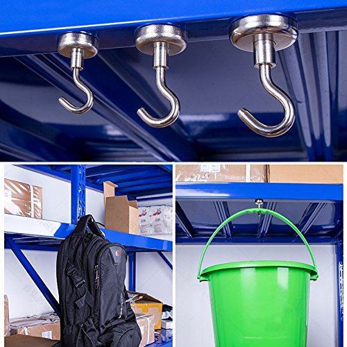 12LBS Heavy Duty Magnetic Hooks, Strong Neodymium Magnet Hook for Home, Kitchen, Workplace, Office and Garage by DIYMAG (Image #2)