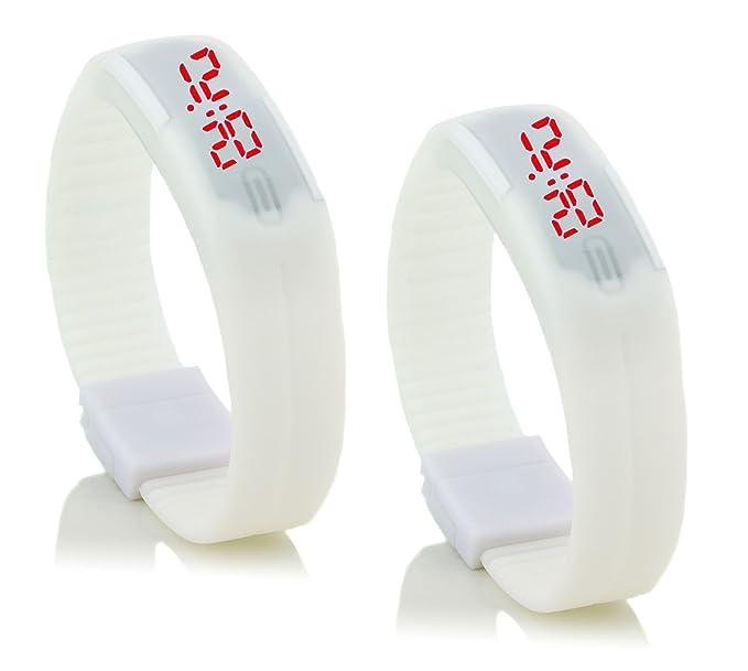 "2 x ""c.d.r. silicona reloj digital LED reloj de pulsera LED Watch digital"