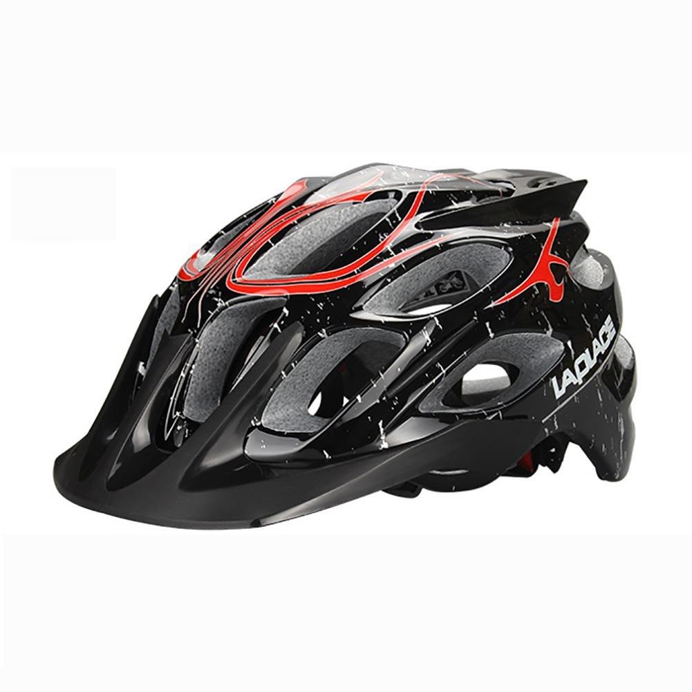 MIAO Fahrradhelm - Outdoor insgesamt Sicherheit Junge und Mädchen Mountainbike Rennrad Fahrradhelm schwarz