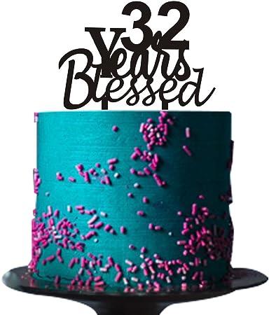 Anniversario Matrimonio 32 Anni.32 Anni Blessed Cake Topper Per 32 Anni Amato Anniversario
