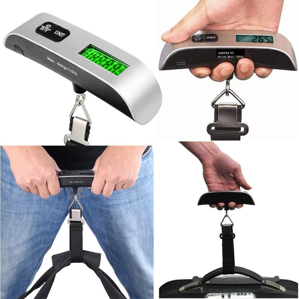 ️ Yu2d ❤️❤️ ️New 50kg//10g Portable LCD Digital Hanging Luggage Scale Travel Electronic Weight