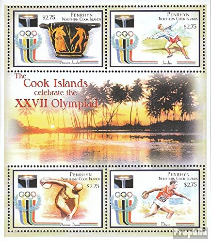- Penrhyn 600-603 Sheetlet (Complete.Issue.) 2000 Olympics Summer 2000 (Stamps for Collectors) Olympic Games