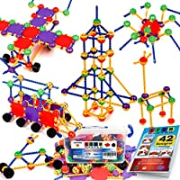 STEM Master 176 Piece STEM Learning Educational Construction Building Toy Gift Set for Boys and Girls Ages 3 4 5 6 7 8 9...
