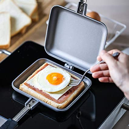 Sandwich Tostadora antiadherente, para camping, sándwiches ...