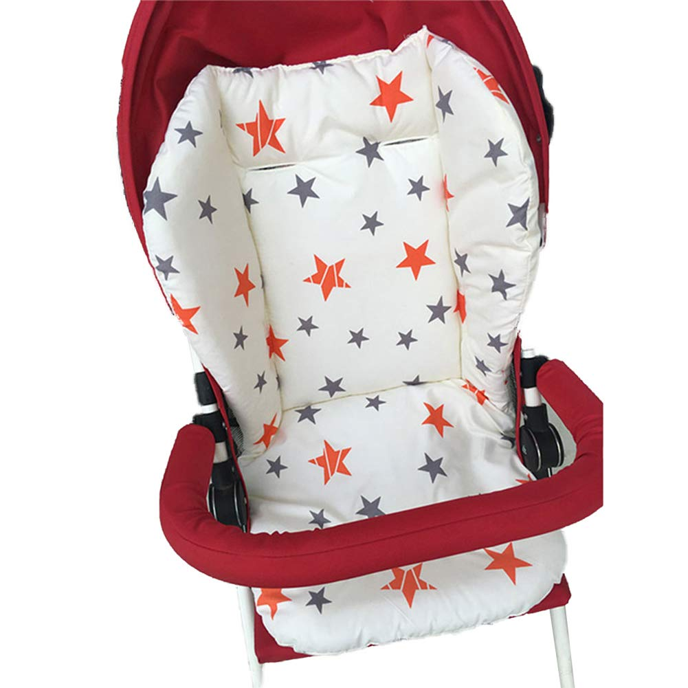 Star 1PC Breathable Baby Stroller Seat Pad Car Seat Liner High Chair Seat Cushion Liner Mat Cotton Seat Pad Cover Protector for Baby Infant