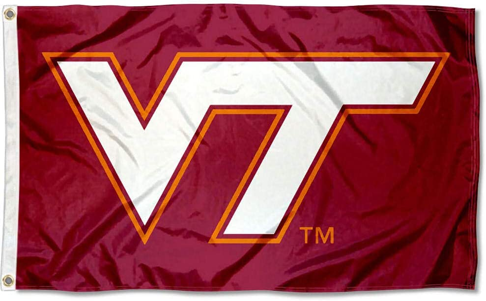 College Flags & Banners Co. Virginia Tech Hokies Maroon VT Flag