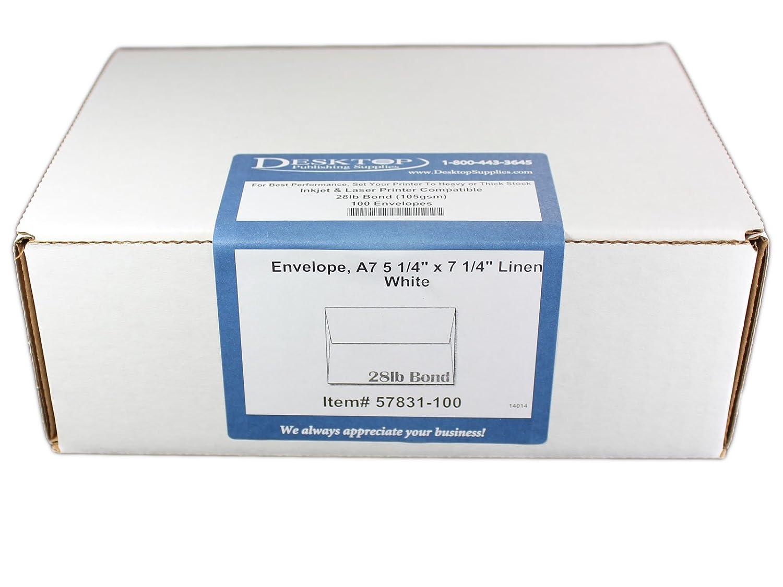 amazon com envelope 5 1 4 x 7 1 4 white linen 100 envelopes