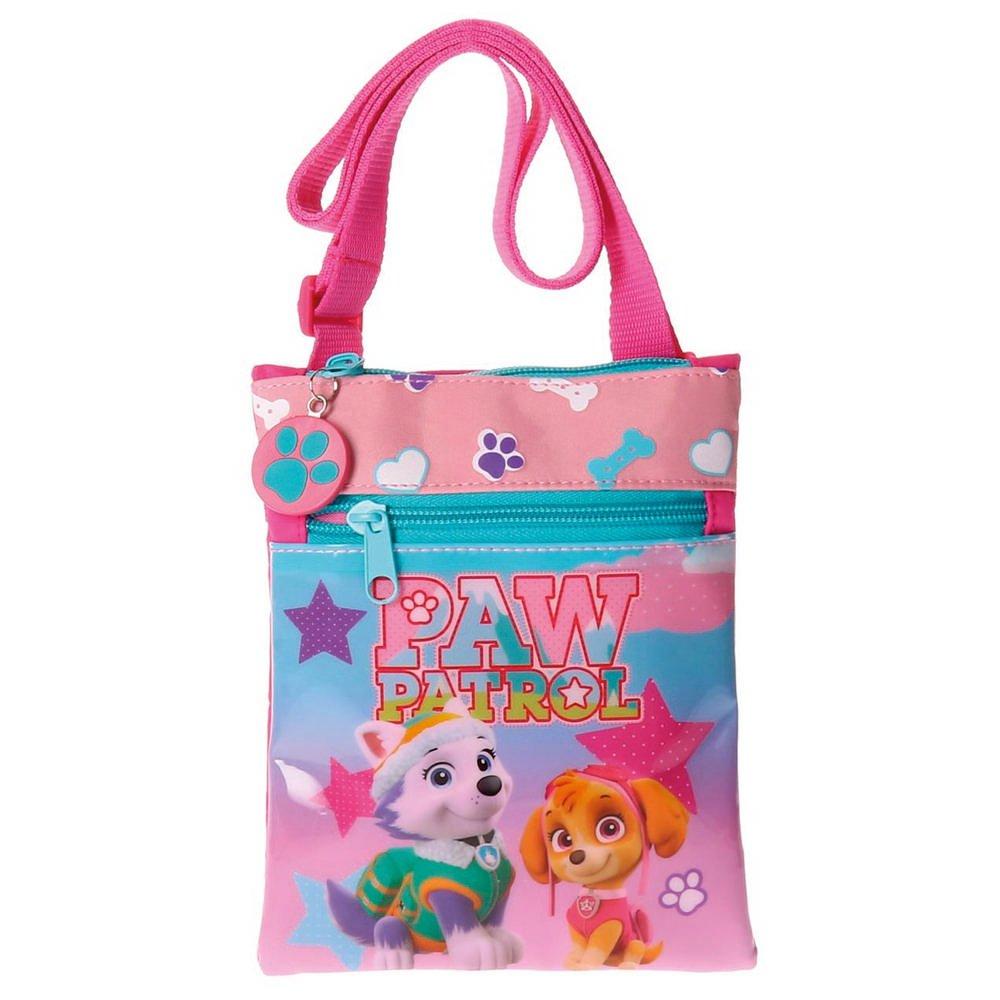 0.13 liters Rosa Paw Patrol Stars Messenger Bag 18 cm Pink