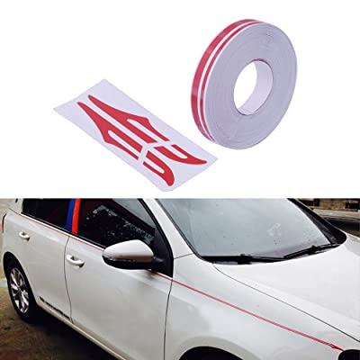 "PME 12mm 0.5"" Pinstripe Pinstriping Pin Stripe Decals Vinyl Tape Stickers for Cars (Red) Sticker: Automotive"