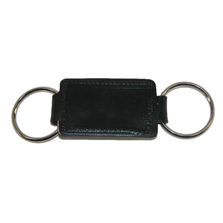 Boston Leather Leather Valet Key Fob, Black