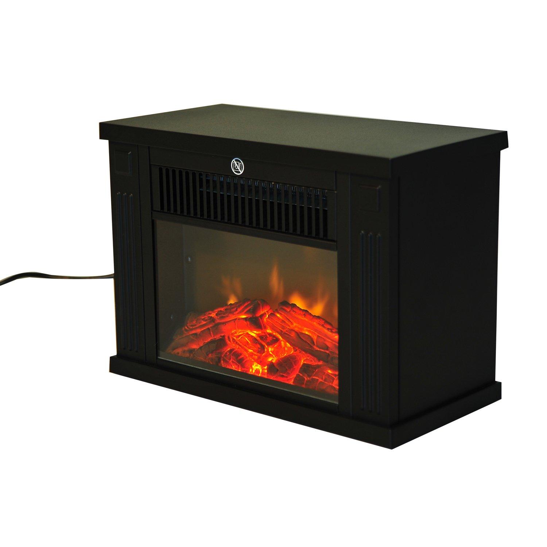 homcom 1 2kw freestanding electric fireplace fire wood log burning
