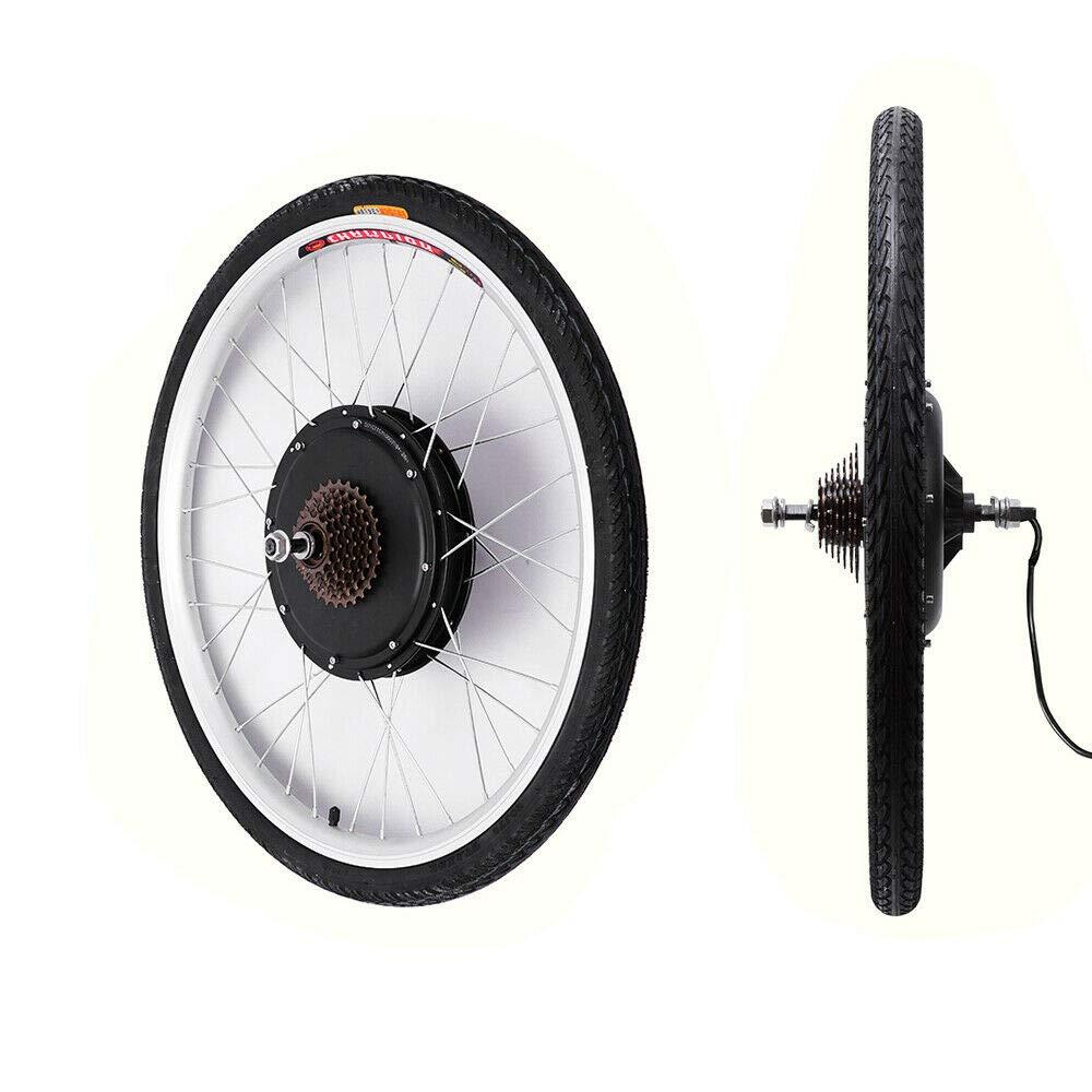 YiWon Kit de Conversion E-Bike pour Moteur de moyeu de 28 Pouces Kit de Conversion pour Moteur de v/élo /électrique de Roue arri/ère 48V 1000W