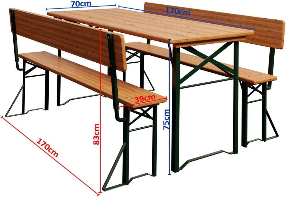 Super Saturday Deuba Garden Furniture Table Bench Set ...