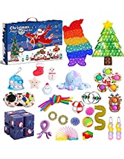 Fidget Advent Calendar 2021 Christmas Countdown Calendar 24 Days Sensory Fidget Toy Pack Novelty Decorations Gift Boxes for Kids Adults Xmas Holiday Party Favor