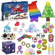 Fidget Advent Calendar 2021 Christmas Countdown Calendar 24 Days Sensory Fidget Toy Pack Novelty Decorations G