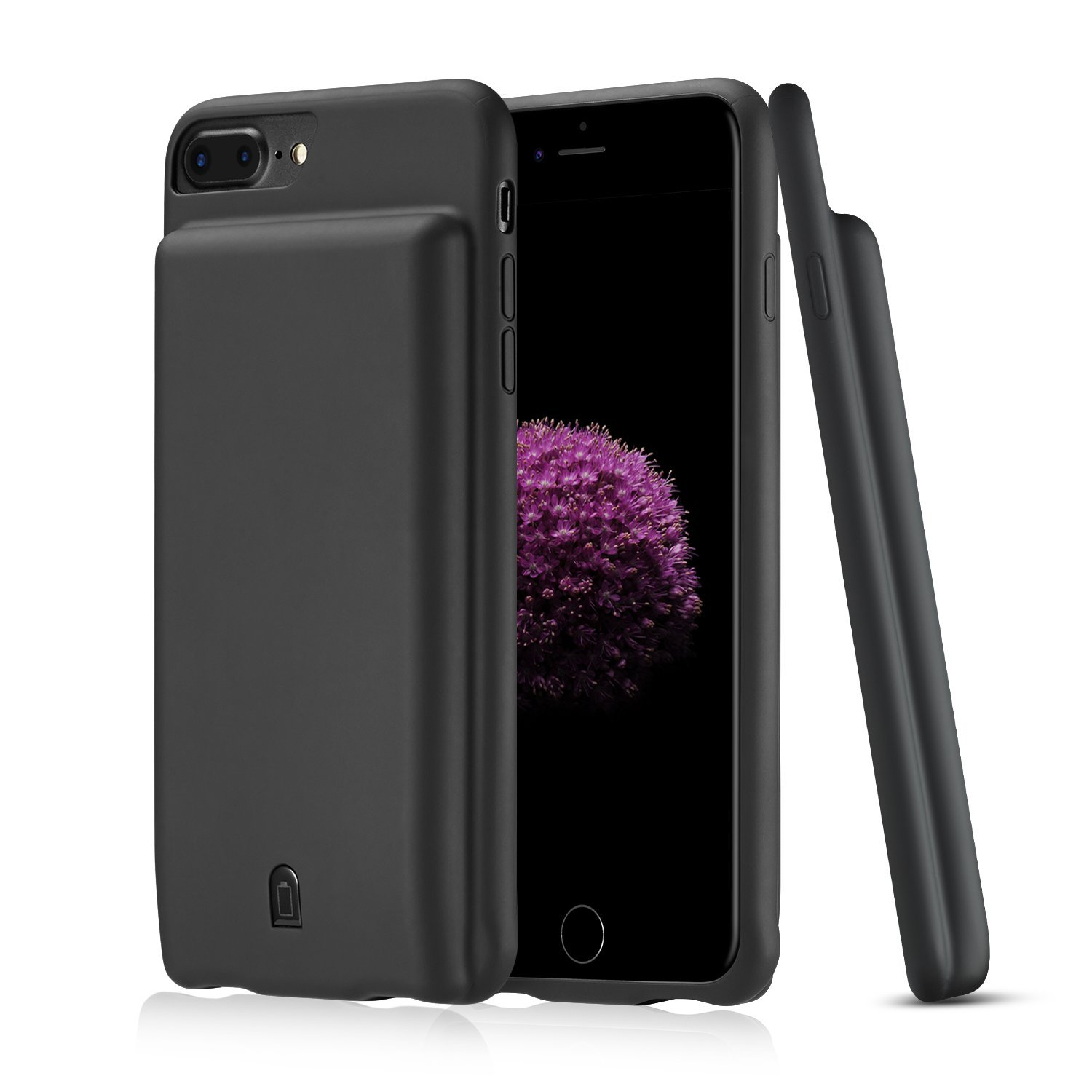 Antank iPhone 8 Plus/7 Plus/6 6s Plus Battery Case, 7000mAh Battery Charging Case External Battery Pack for iPhone (5.5inch) Protective Charger Case Backup Juice Bank Power Bank (Black)