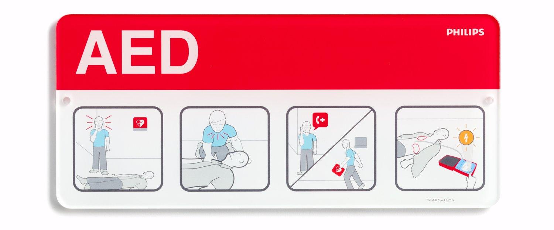 Philips HeartStart 989803170901 AED Awareness Placard