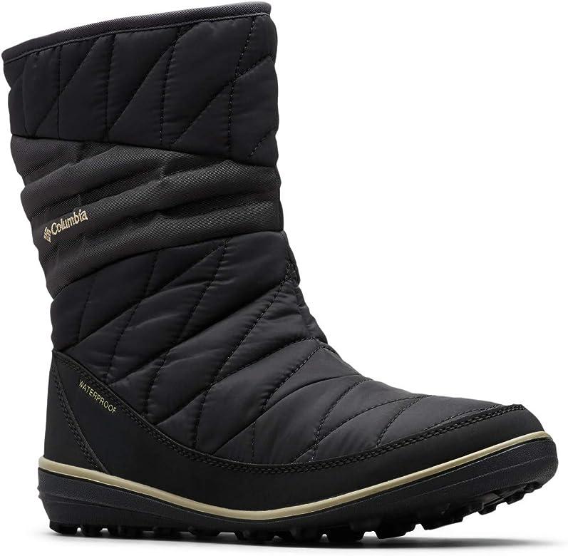 b5c857019d9a Columbia Women's Heavenly Slip II Omni-Heat Ankle Boot, Black, Silver sage,