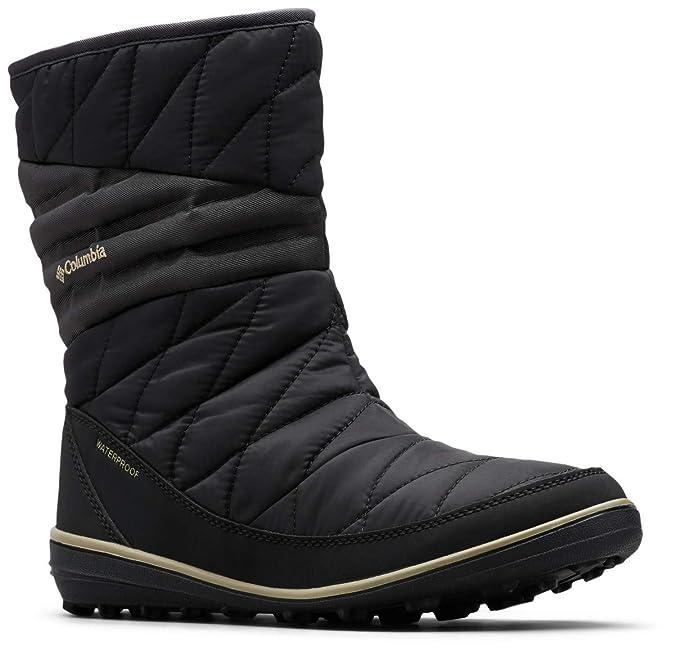 Columbia Women's Heavenly Slip II Omni-Heat Ankle Boot, Black, Silver sage, 5 Regular US