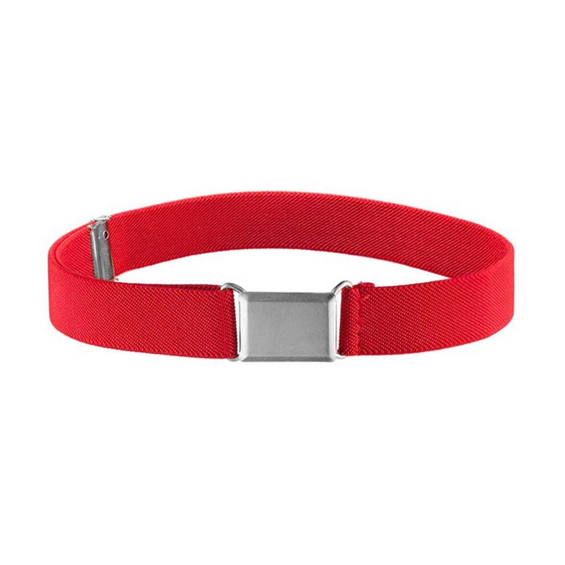 Romanlin Kids Belt Solid Color Adjustable Elastic Belt with Silver Buckle