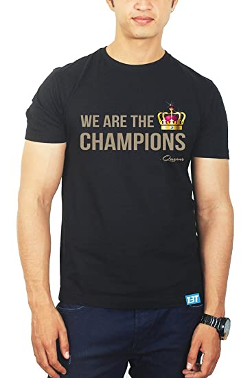 c702d74fc We are The Champions Queen Band Tshirt - Queen Band Merchandise Black