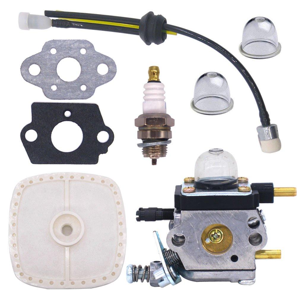 NIMTEK C1U-K54 C1U-K54A Carburetor Repower Kit for 2-Cycle Mantis 7222 7222E 7222M 7225 7230 7234 7240 7920 7924 Tiller / Cultivator Carb