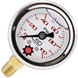 LSD TUNING USA Pressure Gauge For Fuel and Oil - Liquid Filled 0-100 Psi