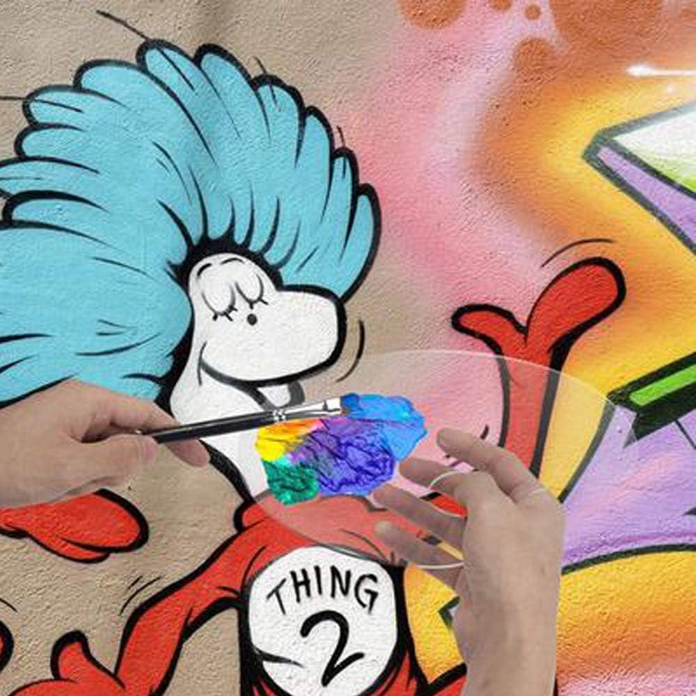 mohito Tavolozza Pittura,3Pezzi Trasparente Tavolozza di Pittura Acrilica Tavolozza da Artista Facile da Pulire con Comodo Foro per il Pollice Tavolozza per Dipingere per Fai da Te e Pittura Artistica