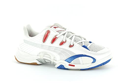 07b547bee1 Puma Accelerate V Handball Indoor Indoor Shoes White Silver Blue Red   Amazon.co.uk  Shoes   Bags
