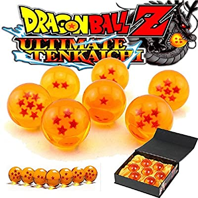KAKALIN New Dragon Ball Z Stars Crystal Ball with Set of 7 Pcs in Gift Box to Complete Your Collection: Toys & Games