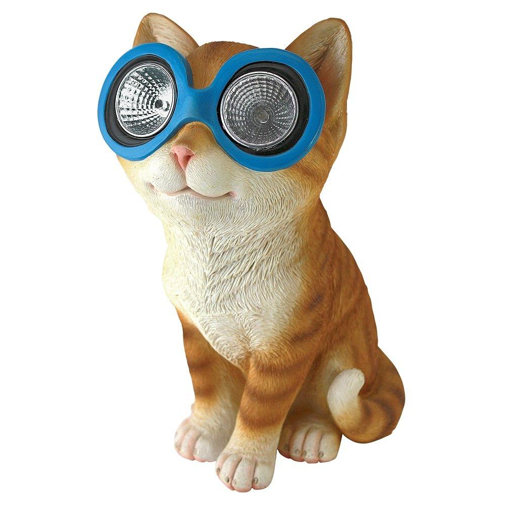 Amazon.com : Design Toscano Bright Eyes Solar Cat Garden Statue : Garden U0026  Outdoor
