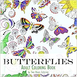 Adult Coloring Book Butterflies Two Hoots Coloring