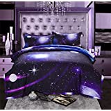Galaxy Bedding Sets 3D Printed Cloud Quilt Comforter Sets With 2 Bedroom Pillow Covers (07)