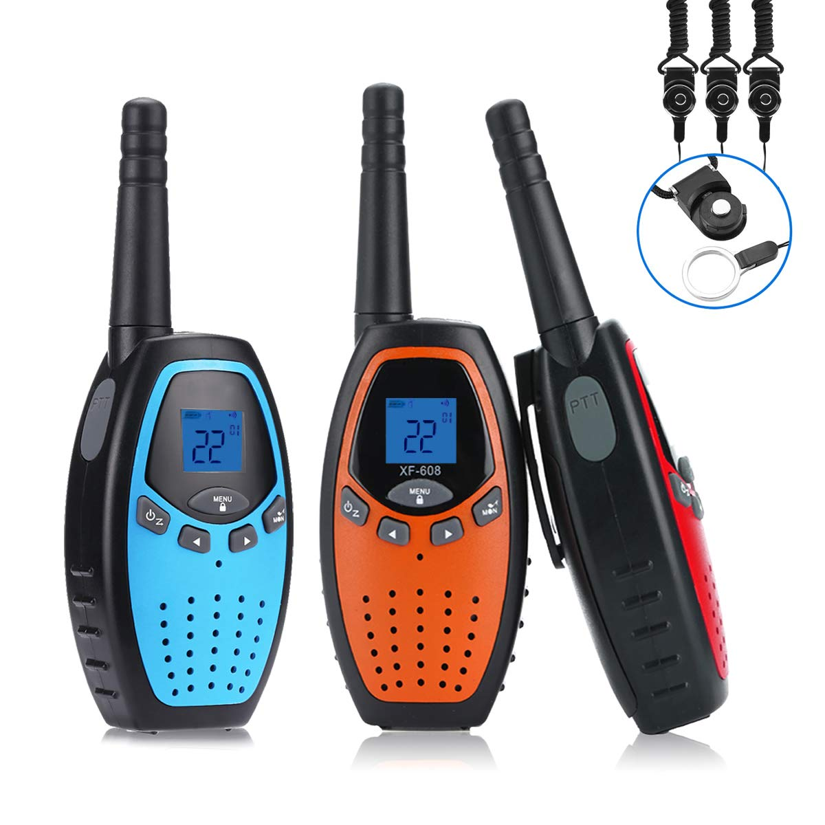 Fistone Walkie Talkies for Kids, 3 Packs 22 Channels 2 Way Radio Long Range Interphone Toys for Boy & Girls Age 3 6 7 8 9 12 Up for Outdoor Adventures, Camping, Hiking