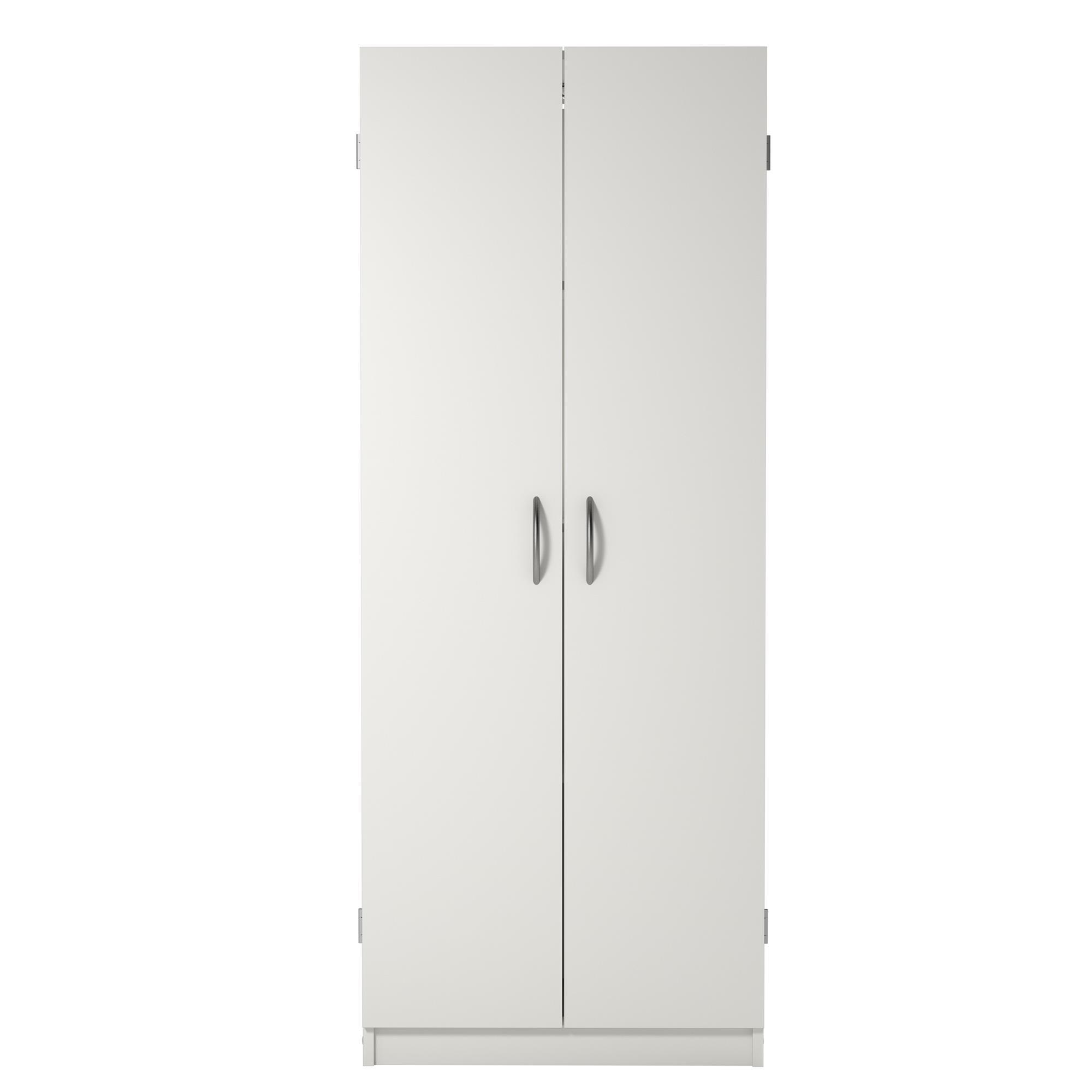 Ameriwood Basics Storage Cabinet, White Stipple
