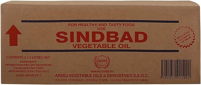Sindbad Vegetable Oil, 9 Litres, Pack of 2