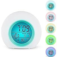 Despertador de Digital LED 7Colores Interruptor y 8melodías