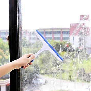 Zhouzhouji - Limpiador de cristales, para ventanas de cristal, raqueta limpiacristales, para el coche, el hogar, el baño, para limpieza de mamparas de ducha, tamaño pequeño: Amazon.es: Hogar
