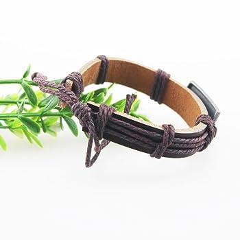 Vintage Jesus Charm Braided Leather Adjustable Bracelet for Men/Women E1255