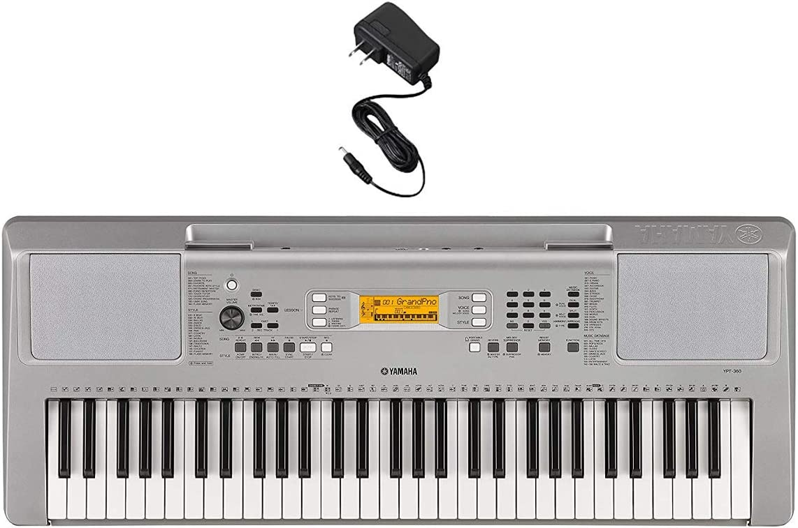B076NGVVLX Yamaha YPT360 61-Key Touch-Sensitive Portable Keyboard With Power Adapter (Amazon-Exclusive) 613Gis1a97L