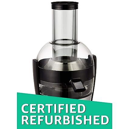 (Certified REFURBISHED) Philips Viva Collection HR1863/20 500-Watt Juicer (Black/Silver)