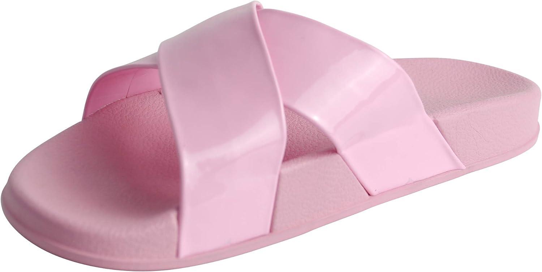 BeMeesh Womens Ladies Cross Over Sliders Sandals Mules