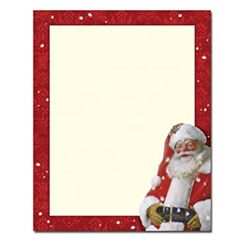 Amazon.com : Christmas Stationery Jolly St. Nick Holiday Laser and ...