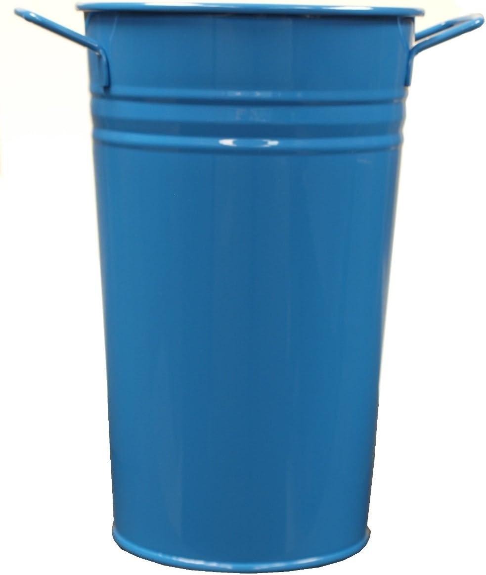 Houston International 8295E B 6.5-Inch Steel Vase, Blue